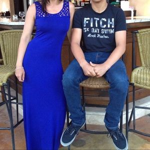 Marciano blue maxi dress